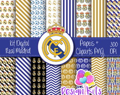 Real Madrid kit digital, papeis , cliparts png