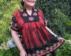 Poncho Plus Size Bordado