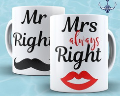 Caneca Mrs e Mr