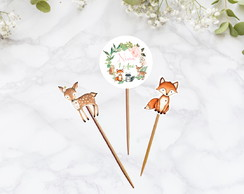 Topper para doces Bosque Encantado Woodland
