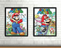 Kit 2 Quadros / Mario Bros