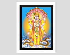 Quadro lord vishnu deus hindu hinduismo india yoga buda