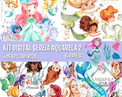 KIT DIGITAL SEREIA AQUARELA 2