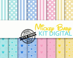 Papel Digital Mickey Baby Candy Colors