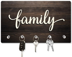 Porta Chaves Family - Ideal para presentear