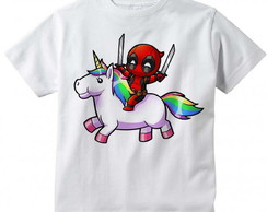 Camiseta Infantil Deadpool Unicórnio