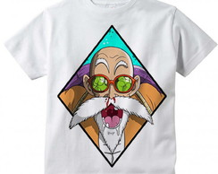 Camiseta Infantil Dragon Ball Mestre Kame