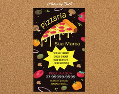 Pizzaria Panfleto Arte Digital