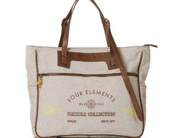 Bolsa Tote Reciclada Off White Bordado Ar