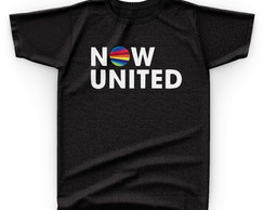 Camiseta Camisa Preta Grupo Banda Now United Pop
