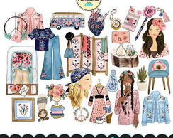 Kit Digital Boho Chic