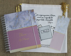 Life Planner 2021 Capa Marmore Rosa
