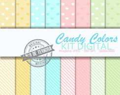 Papel Digital Candy Colors