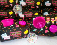 Almofada Kit Cinema Personalizada Tema Festa do Pijama Neon