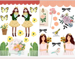 (DIGITAL) KIT DIE CUTS FLORISTA