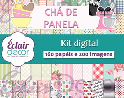 Kit Scrapbook Digital CHÁ DE PANELA
