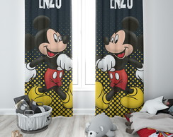 Cortina do MIckey Blecaute com Nome - 1,40m x 1,80m