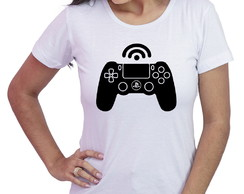 Baby Look Feminina geek player 1 controle playstation games