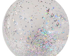 BALÃO BUBBLE DECORADO COM CHUNKY GLITTER