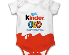 Body de bebê estampa Kinder Ovo