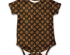 Body de bebê estampa Louis Vuitton
