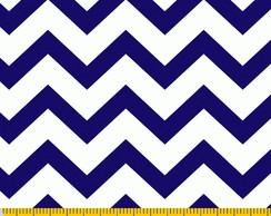 Estampado Chevron Azul
