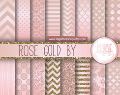 Kit digital papeis rose gold