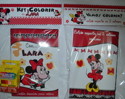 Revistinha ( kit Colorir) Minnie