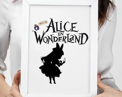 Quadro Alice in wonderland cód:268 - A4