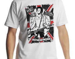 Camiseta Sex Pistols Killed Rock n Roll Masculina Branca