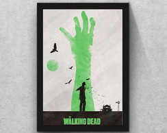Quadro The walking dead moldura mdf + vidro + poster
