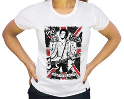 Camiseta Sex Pistols Killed Rock n Roll Feminina Branca