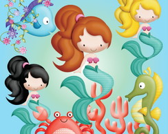 KIT DIGITAL SEREIA CUTE 60 ELEMENTOS
