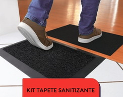 Kit Tapete Sanitizante 60x40cm Preto