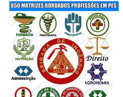 kit de matrizes bordados 850 matriz de bordado pes