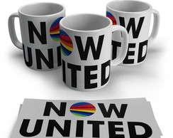 caneca branca now united bandas pop k pop kpop logos