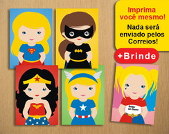 Poster Digital Super Heroínas Baby (Arquivo A4 para download