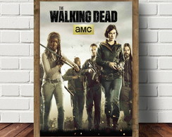 Quadro Com Moldura 33 x 43 cm The Walking Dead QS7