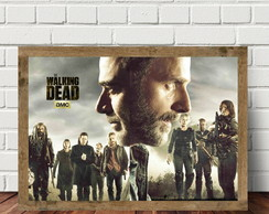 Quadro Horizontal Com Moldura Série The Walking Dead QS3