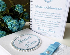 Caderno de Assinaturas Bodas de Diamante