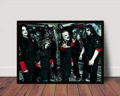 Quadro Decorativo Poster C Moldura Slipknot Rock P4886