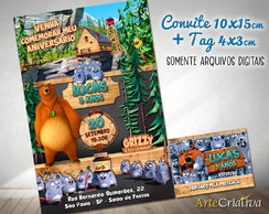 CONVITE DIGITAL C/TAG Grizzy and the Lemmings 2