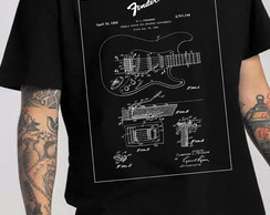 Camiseta Guitarra Fender Patente
