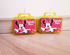 Kit modelar Mini maletinha personalizada minnie vermelha