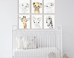 Quadro Decorativo Infantil Safari