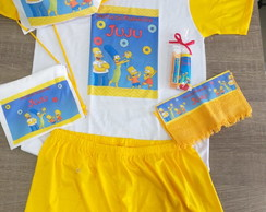 kit festa do pijama simpsons kit dental necessaire mochila
