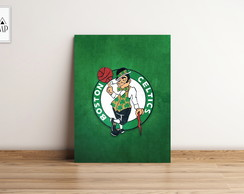 PLACA DECORATIVA MDF BOSTON CELTICS