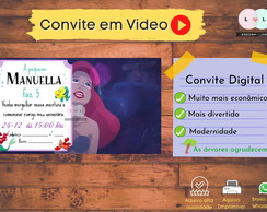 CONVITE DIGITAL VIDEO TEMA ARIEL + TAG DE BRINDE
