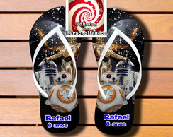 Chinelo com nome Star Wars