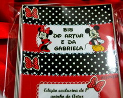 Rótulo para chocolate Minnie e Mickey
